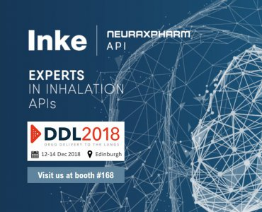 Inke to exhibit at the annual Drug Delivery to the Lungs (DDL) Conference 2018