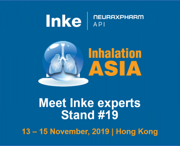 Inke exhibits at the Inhalation Asia 2019 in Hong Kong