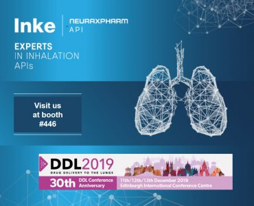 Inke to exhibit at the Drug Delivery to the Lungs (DDL) Conference 2019 in Edinburgh